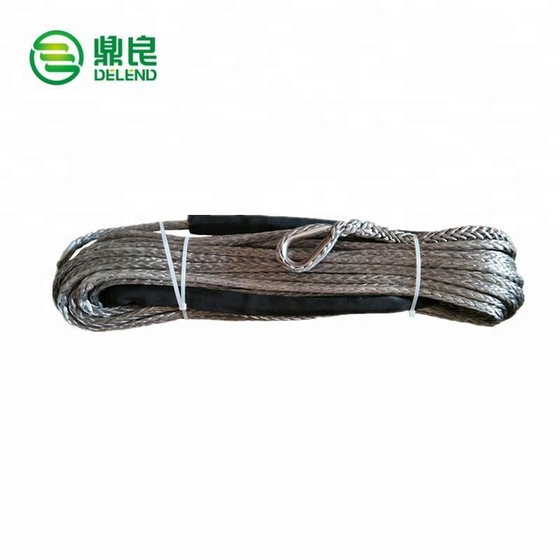"Nylon Synthetic Winch Line Cable Rope for Trucks Car ATV UTV CT 1//4/"" 50ft ×6mm"