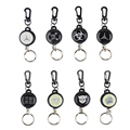 EDC Outdoor Camping Steel Rope Burglar Keychain Stalker Soft Shell Tactical Retractable Key Chain Key Return