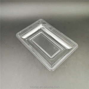 Tray type food use small rectangle blister retail plastic clear packaging