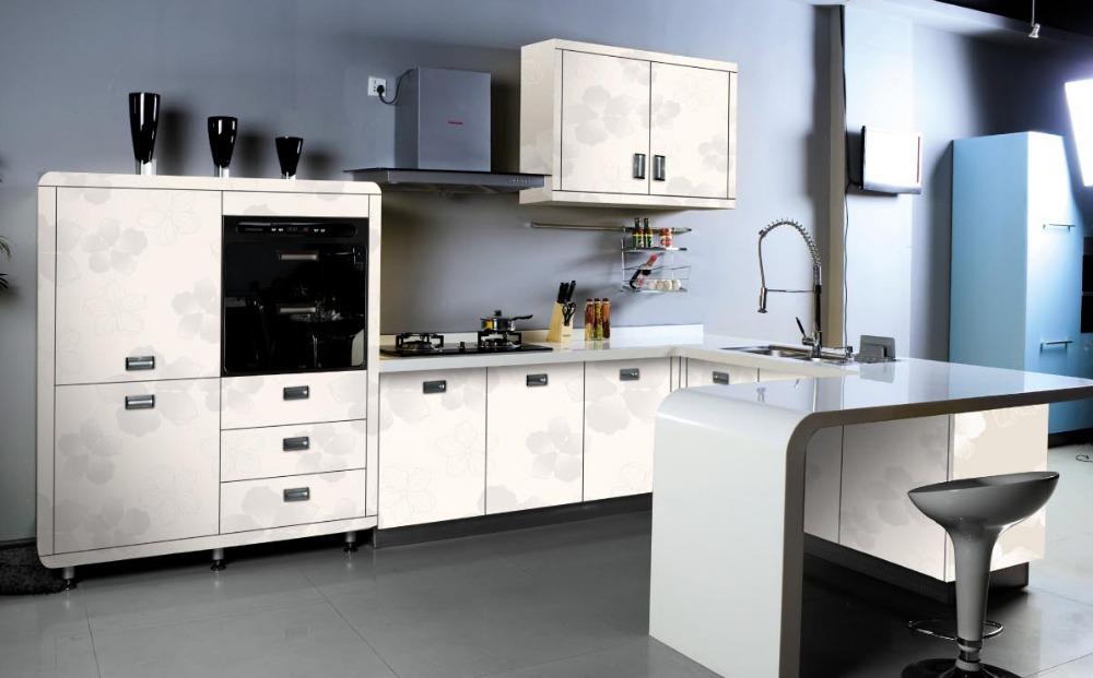 Venta al por mayor muebles de cocina antiguos melamina-Compre online ...