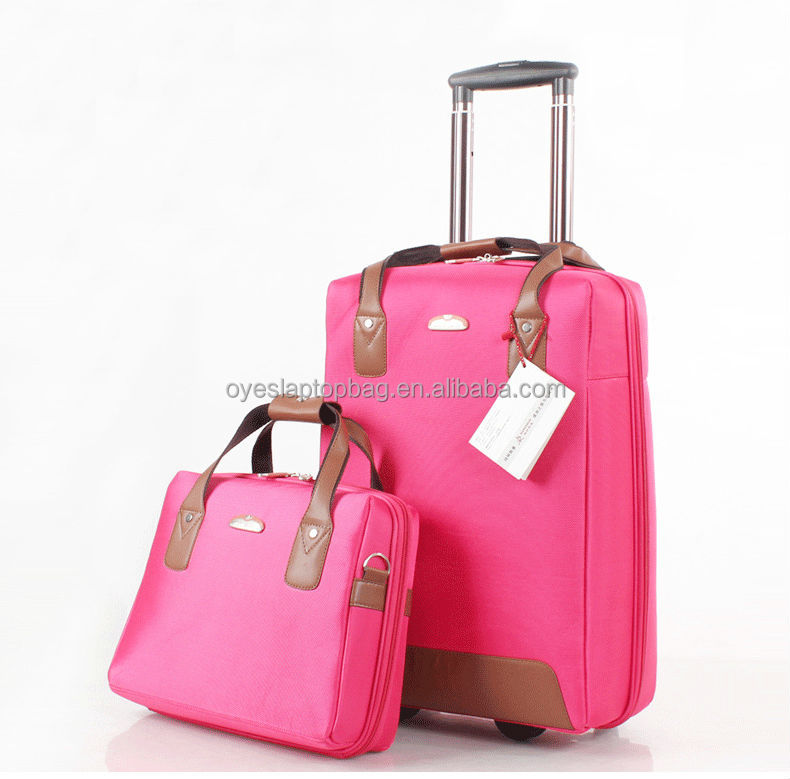 carry on luggage bags / cosmetic cases luggage bag / beautiful design luggage set