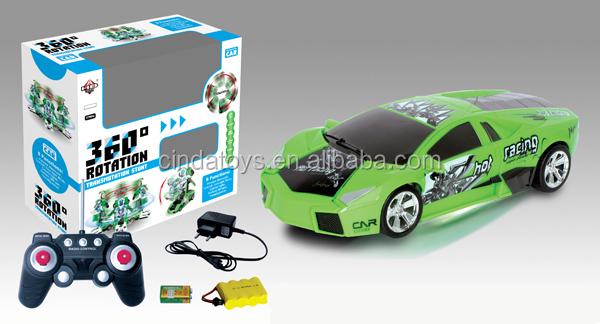 Hot Plastic Simulation Model Toys Stunt Car Multifunction 360
