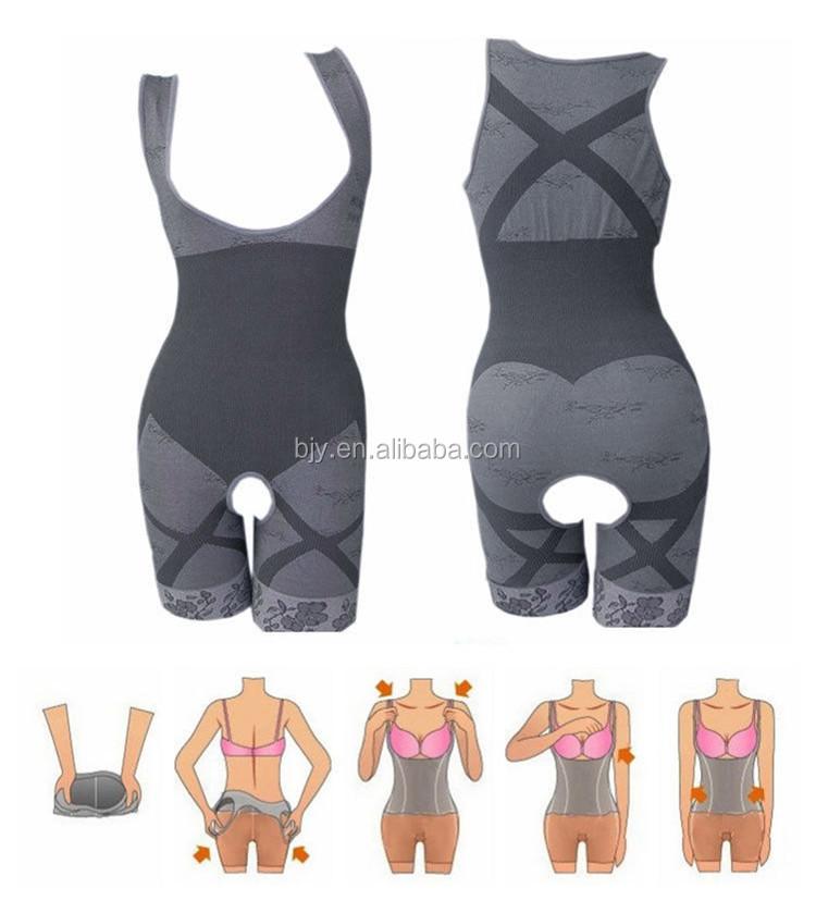 87cca6a22518a Natural Bamboo Fiber Full Body Slimming Shaper Shapewear Underwear ...