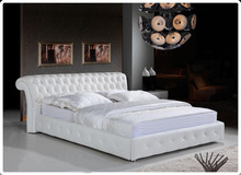 2017Fashion Cheap White PU Leather Home Bedroom Furniture Ottoman Storage Bed