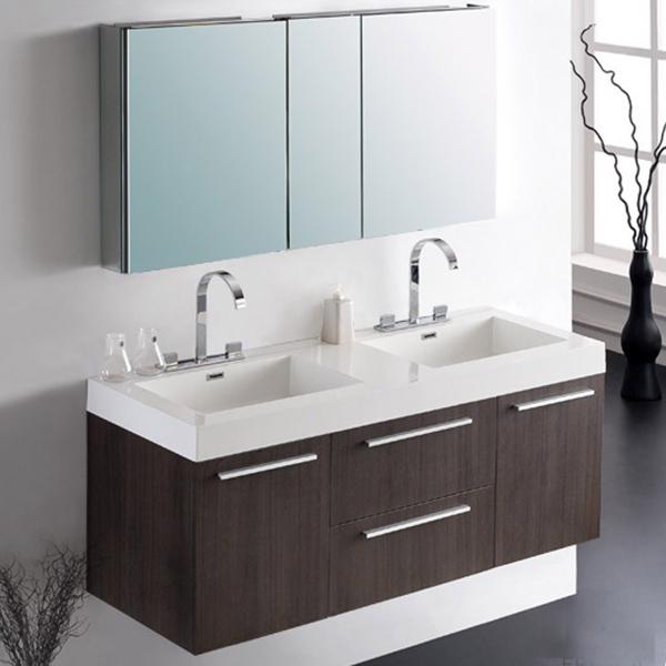 Goedkope europese antieke dubbele wastafel moderne badkamer ijdelheid spiegel badkamer - Moderne wastafel ...