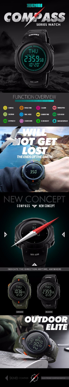 1990eba57cf5 Azul del reloj SKMEI 1231 hombres reloj deportivo digital color Negro  relojes reloj de pulsera digital
