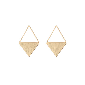 2019 fashion women earrings gold geometric earrings triangle earrings
