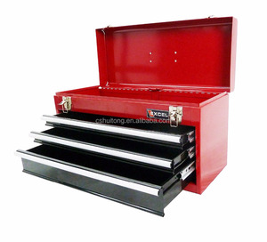 Steel ToolBox Portable 3 Drawer with Lockable Pink