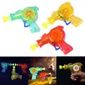 New Shining Bubble Gun Soap Bubbles Blower Kids Child Toys Gift Color Random for Party Celebration