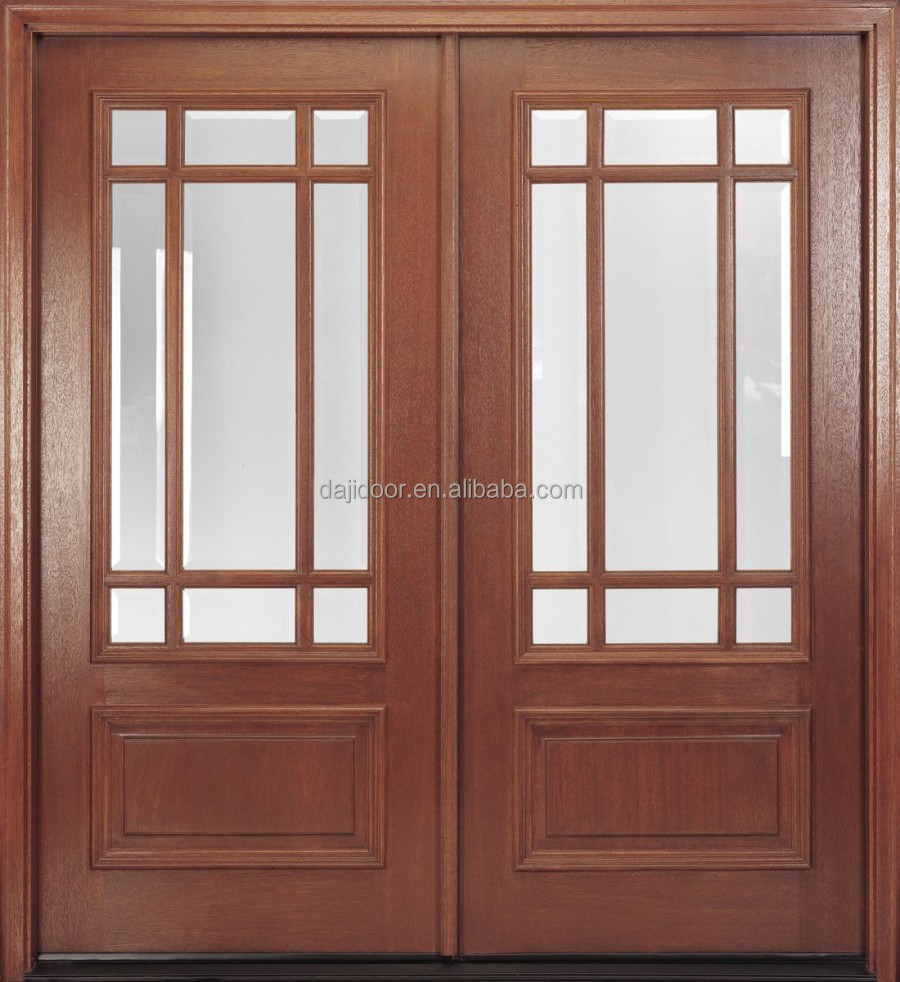 Double Glazed Kitchen Doors Wholesale Solid Wood Double Glazed Front Doors Dj S9180m Alibabacom
