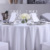 Custom White Wedding Party Round Table Cloth For Luxury Hotel