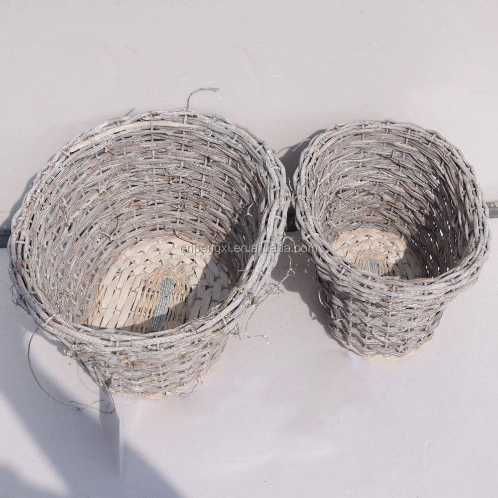 En plein air jardin d coratif en osier paniers d 39 oeufs - Panier decoratif osier ...