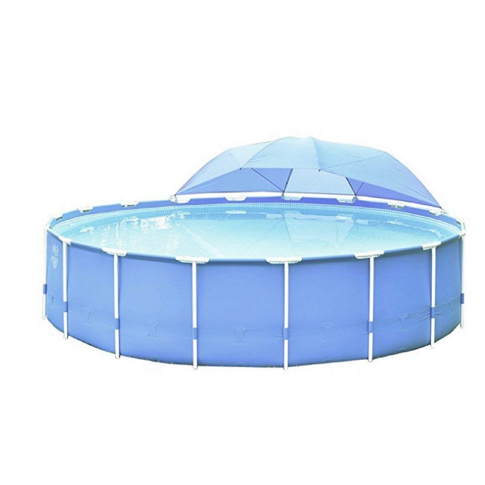 IX Pool Umbrella Windproof, Canopy, Blue Color, Premium Quality, Ideal For Any Pool, Woven/Fiberglass Material, Stylish Design, Grips On Metal Pool Frame & E-Book Home Decor