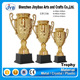 custom large size gold finish trophy cups wholesale for volleyball competition