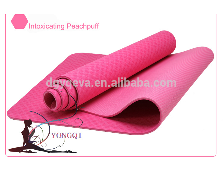 Dongguan High Quality Embossed Eco-friendly TPE Yoga Mat