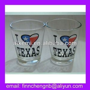 2015 high quality customized fancy shot glass,promotion gift shot glass with logo print,personalized souvenir shot glass