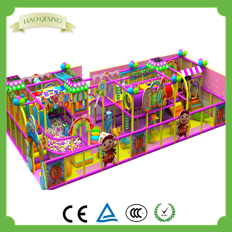 Professional children's area indoor soft playground , children's game for sale