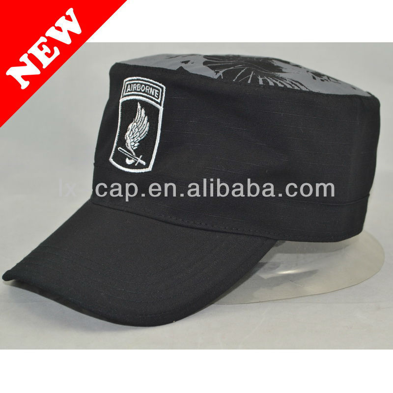 army cap with print and embroider ,material:corduroy,size:59cm.