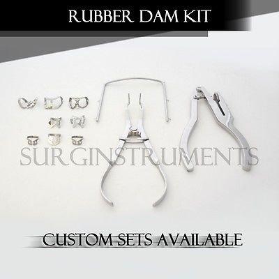 SurgicalOnline - Starter Rubber Dam Kit of 11 Dental MedicInstruments