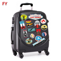 Hot sale suitcase patches vintage travel label stickers