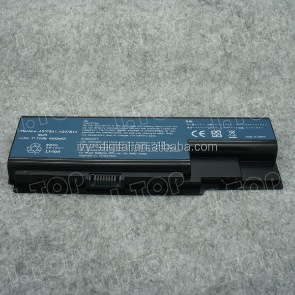 11.1V 4400mAh 6 cells Laptop Battery for Acer 5520 battery , laptop battery manufacturer