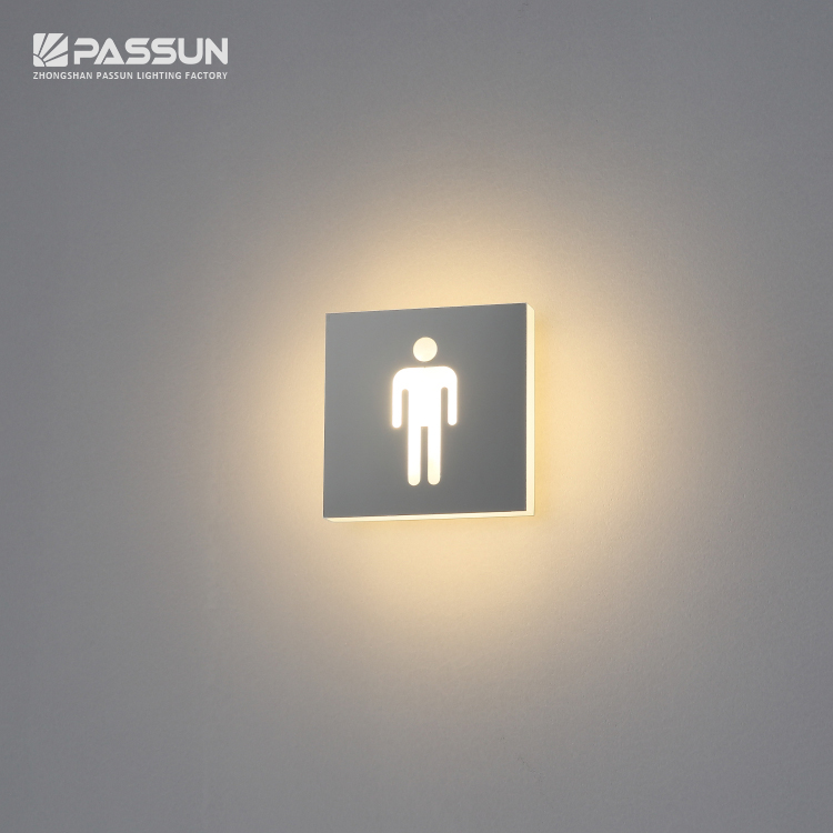 hotel office toilet door number sign 3w led wall light