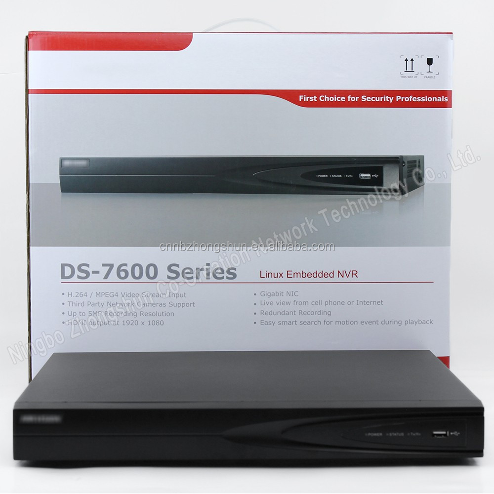 Hikvision DS-7616NI-E2 16ch NVR Plug&Play p2p network <strong>DVR</strong> 2 SATA interfaces