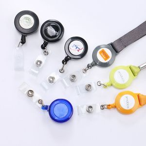 Retractable badge reel holder for lanyard with different color