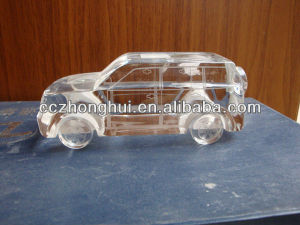 2017 AAA quality Clear Crystal Car Model, Crystal model, Crystal craft