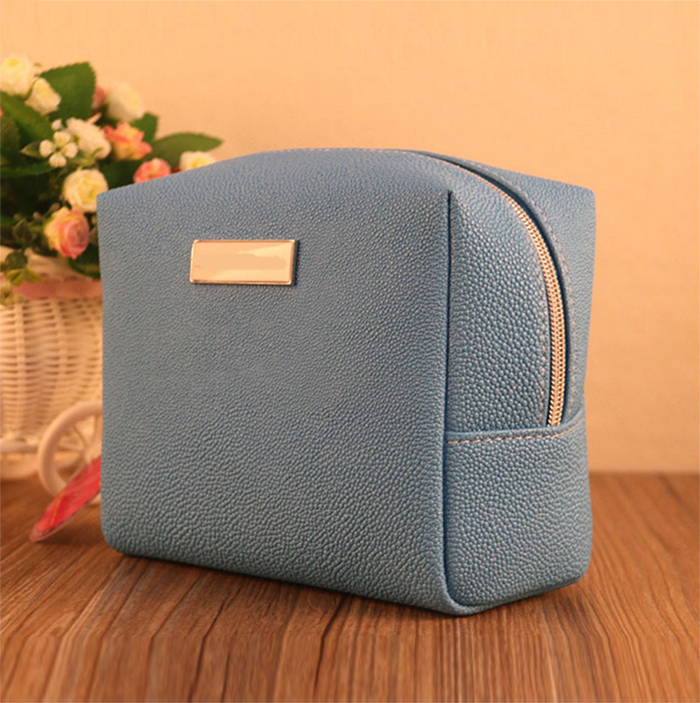 Pu Promotional Travel Zippered Cosmetic Bag