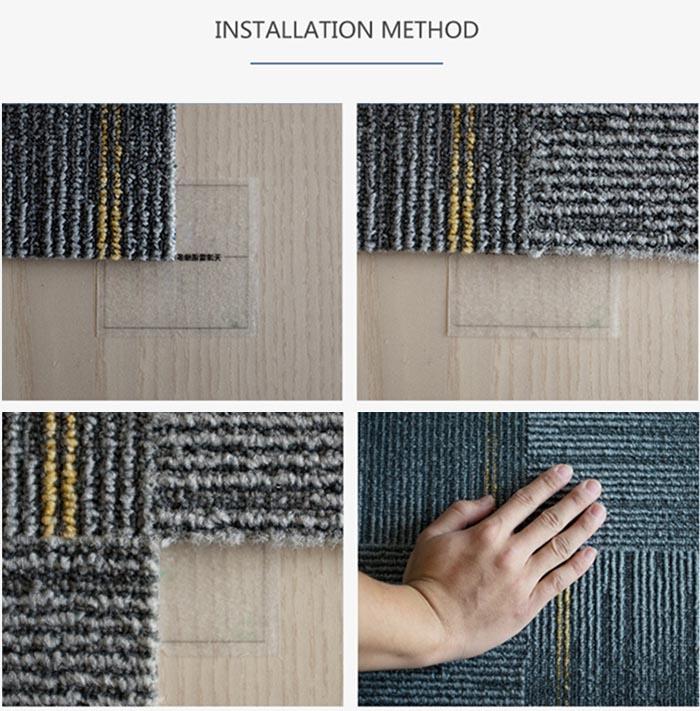 Moderne 100% nylon vloerbedekking tegels prijs vierkante meter