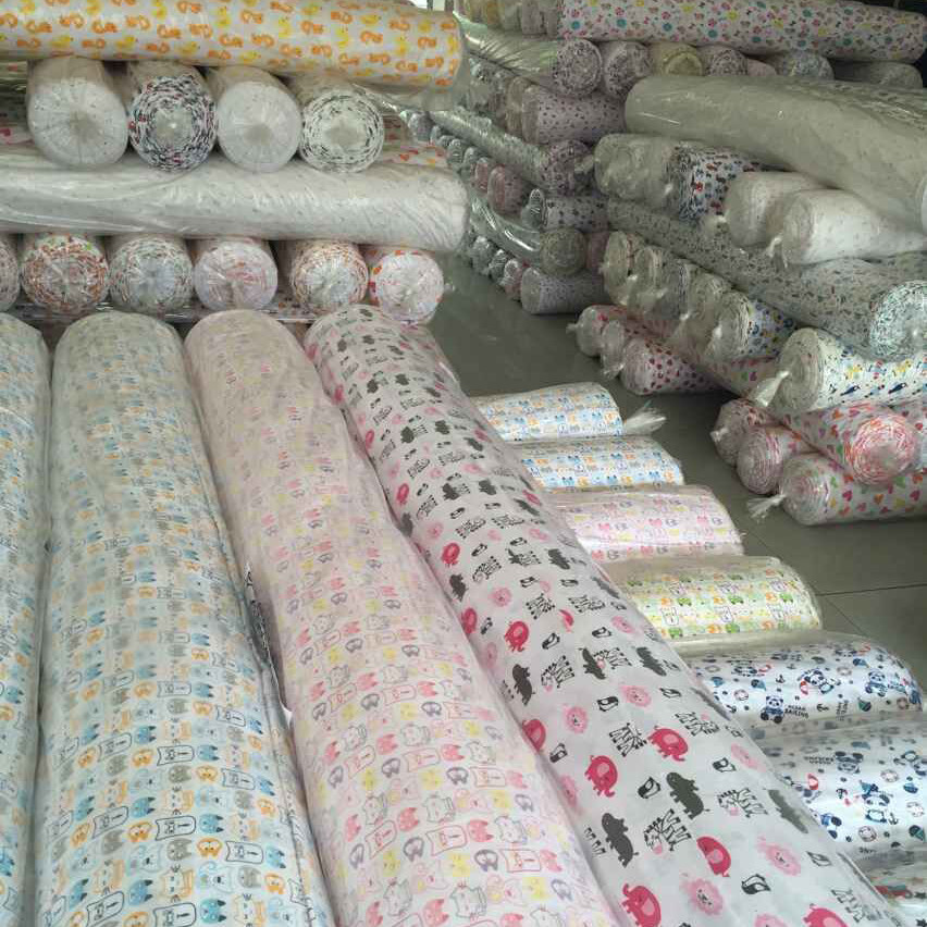 100% cotton printed muslin fabric cotton printed muslin baby fabric 100% cotton baby muslin fabric