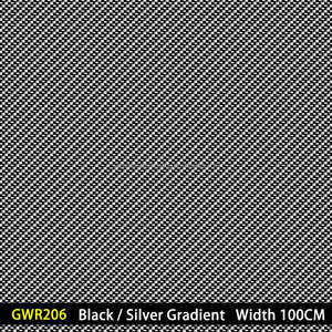 GWR206 Black and Silver Gradient Carbon Fiber width 100CM water transfer Printing film factory / Hydro printing