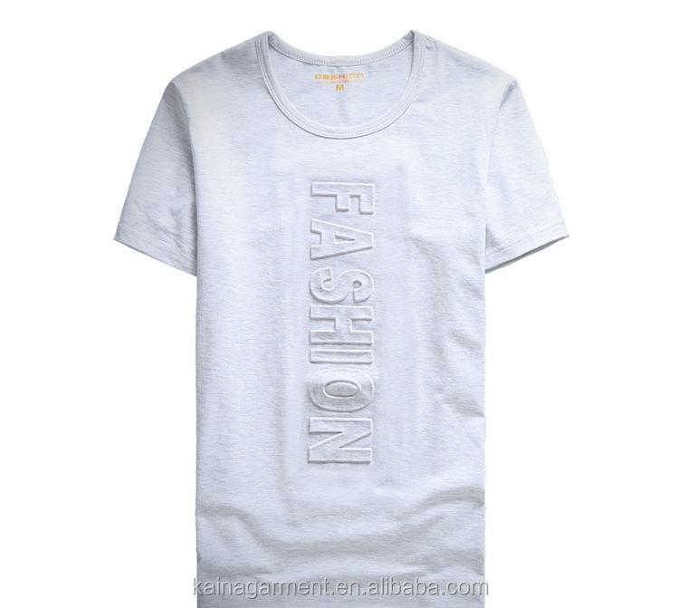 10e20f381 Summer Loose Fit Emboss Print Man No Label Wholesale T-shirts Cotton ...