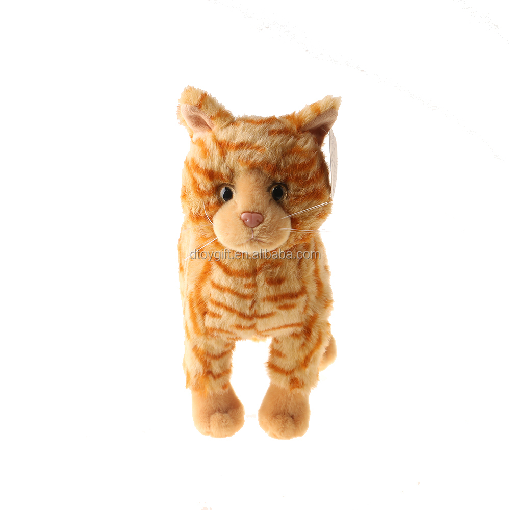 Grumpy Realistic Orange Tabby Toy Plush Stuffed Animal Cat Buy