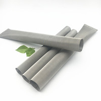 "Food Grade 1"" x 9"" Dutch Weave Rosin Tubes Stainless Steel Filters 25 50 60 Micron Cylinder Mesh Tube"