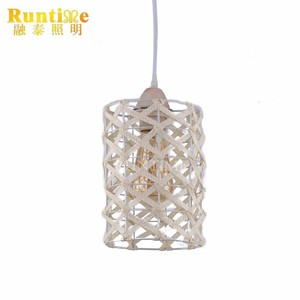 2017 Industrial Usage Vintage Metal +Rattan Cage Pendant Light Model RT3073