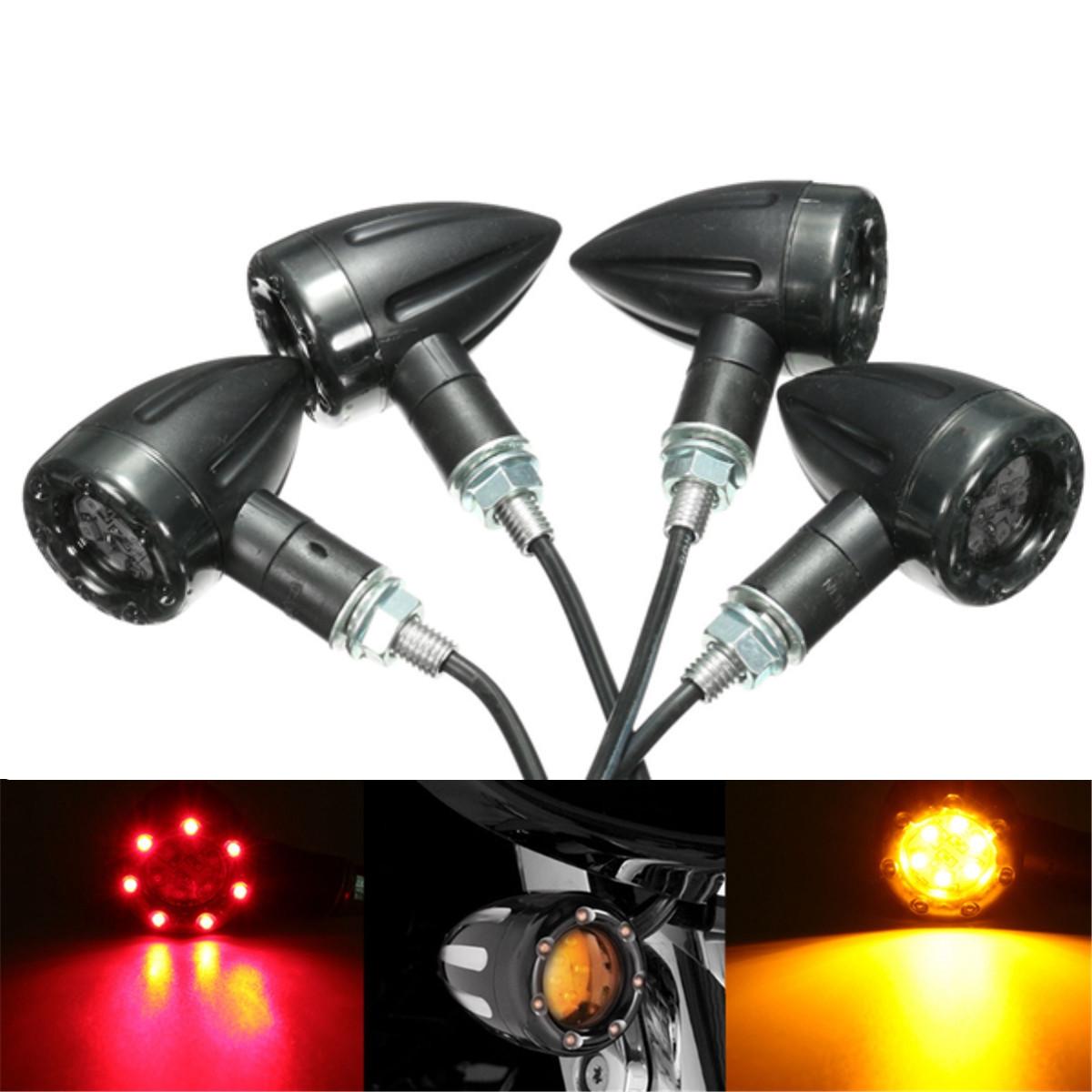4pcs Universal Motorcycle Led Turn Signal Indicators Light