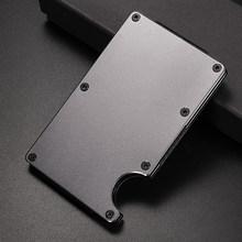 NewBring Металлический Мини-зажим для денег, модный бренд, черный, белый, держатель для кредитных карт с RFID, анти-вор, кошелек для мужчин(Китай)