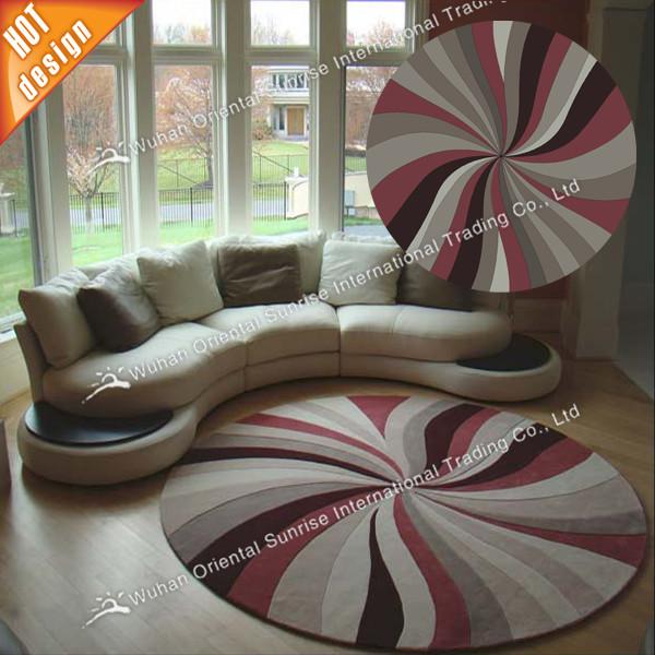 Bunte Runde Design Modern Teppich