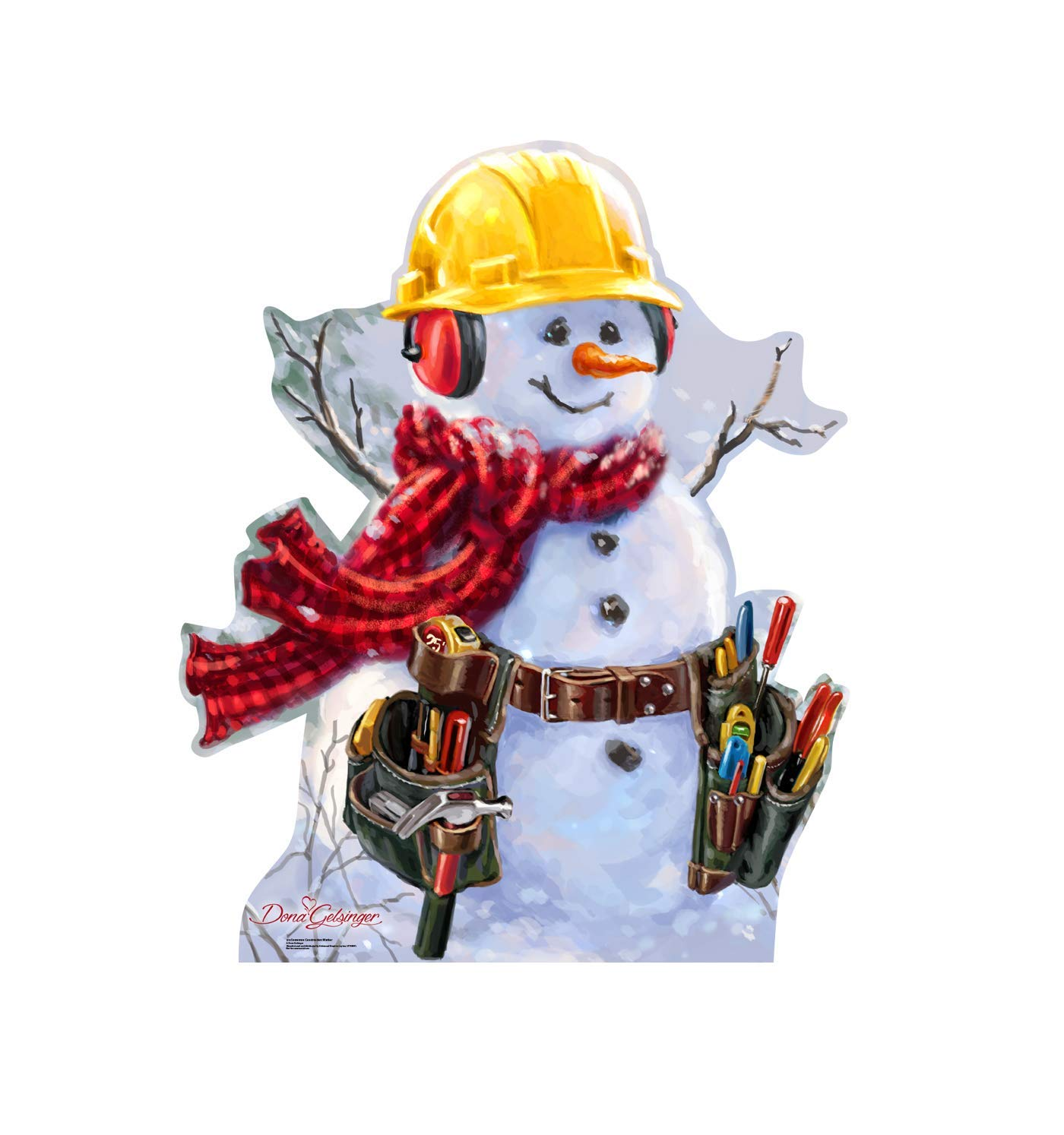 aded17a2eef4f Advanced Graphics Snowman Construction Worker Life Size Cardboard Cutout  Standup - Dona Gelsinger Art