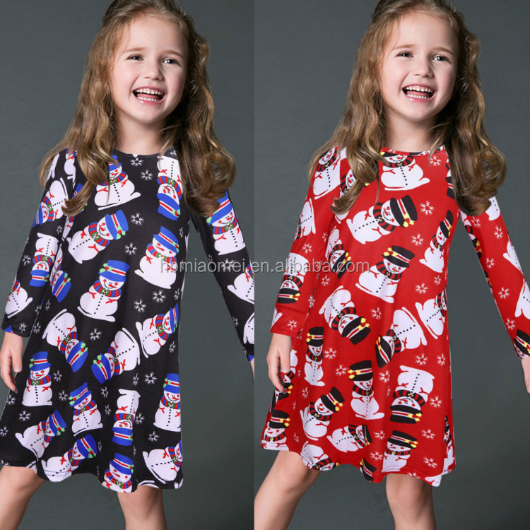 5147d50ac80b9 Long Sleeve Christmas Dress Family Clothes Outfits Same Dresses For Mother  And Daughter