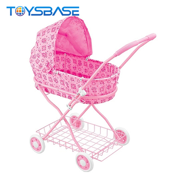 Funny Play Toys Iron Baby Doll Stroller With Car Seat