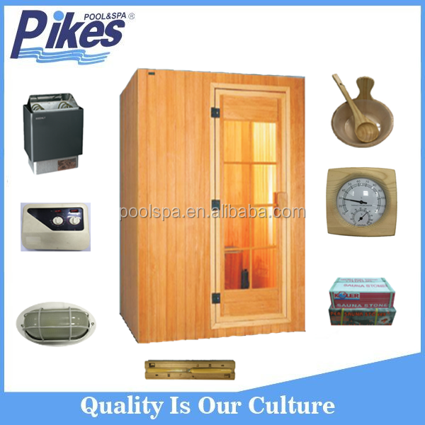 New design portable Candian hemlock wooden sauna steam room combination