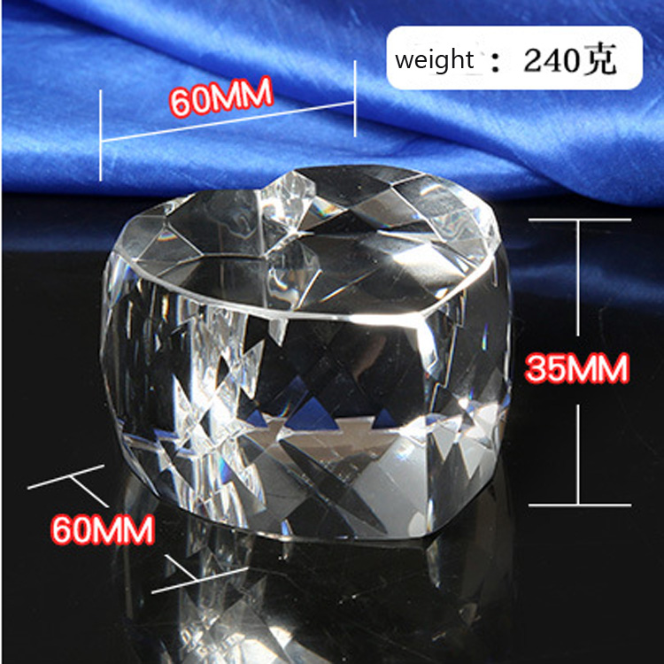 K9 high quality heart shape blank crystal block for for engraving