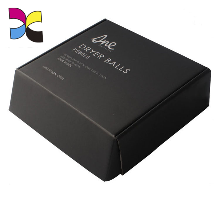 China manufacture black colour corrugated printed wholesale custom mailer boxes