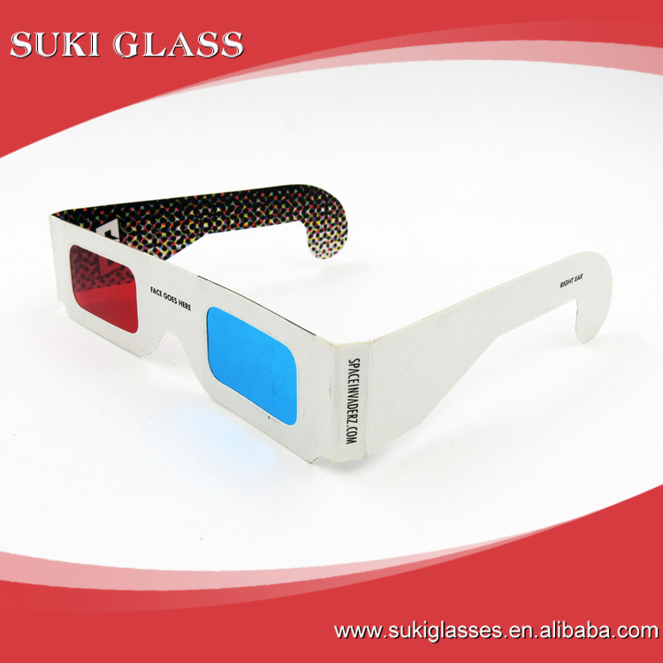 Wholesale custom logo Paper 3D Glasses 3d virtual video View Anaglyph Red Cyan Red/Green 3d Glass