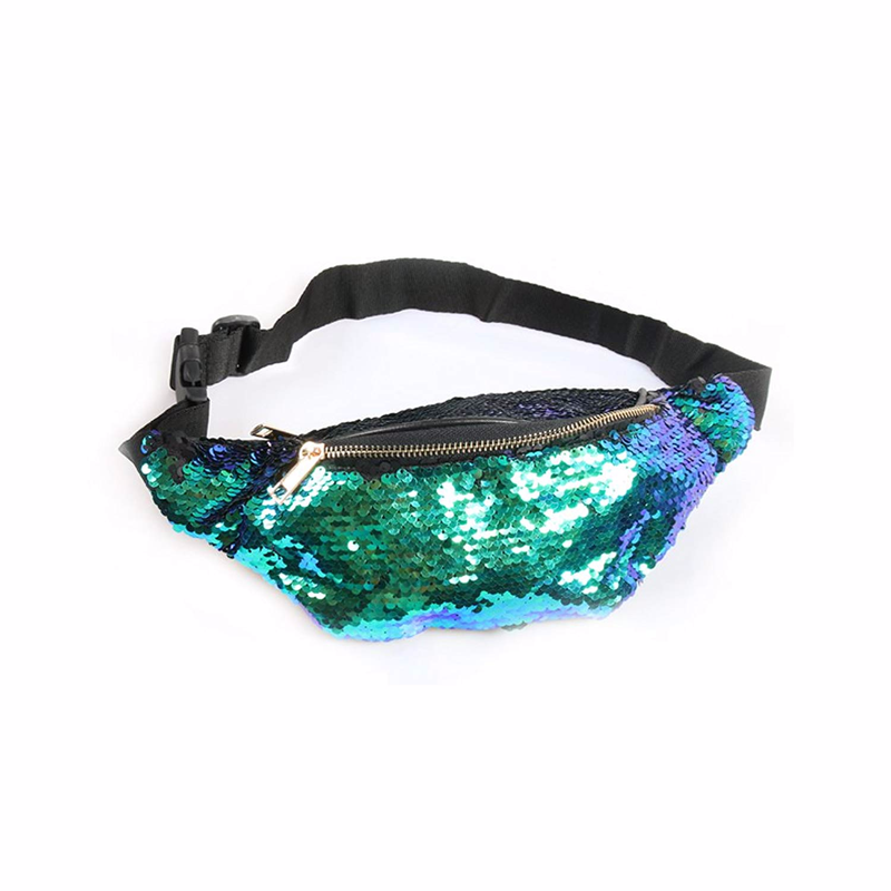 Colorful Glitter Bags Sequin Fanny Waist bag pack for Women