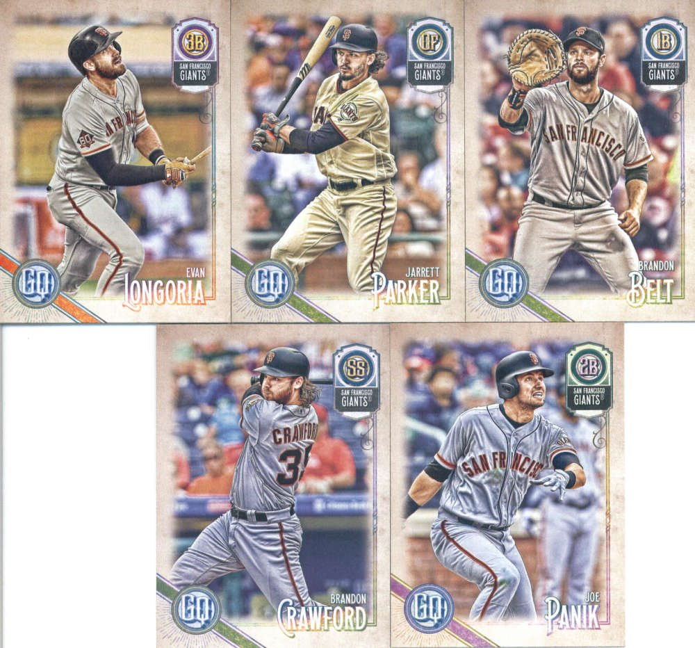 2018 Topps Gypsy Queen San Francisco Giants Team Set Of 10 Cards Jeff Samardzija17 Johnny Cueto20 Buster Posey81 Miguel Gomez102