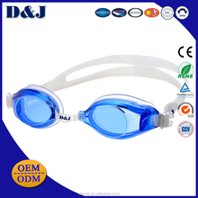 Silicone Strap PVC Changeable Nose Swimming Goggle for Adult